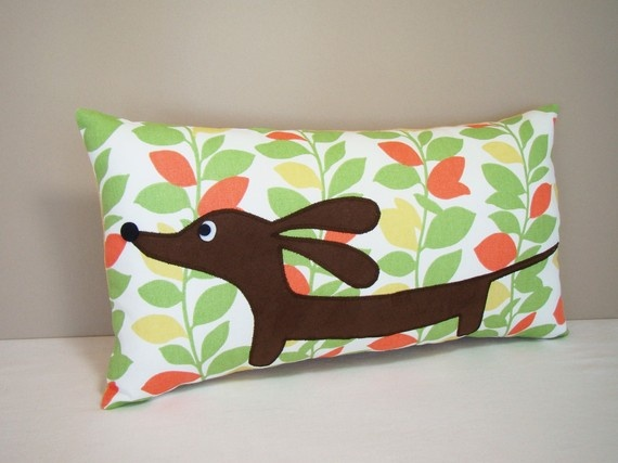 Cushions and dachshunds - the ultimate combination