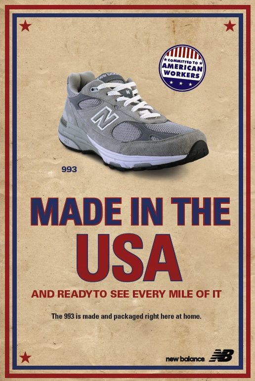 New Balance - the last brand of running shoes still made in the USA.