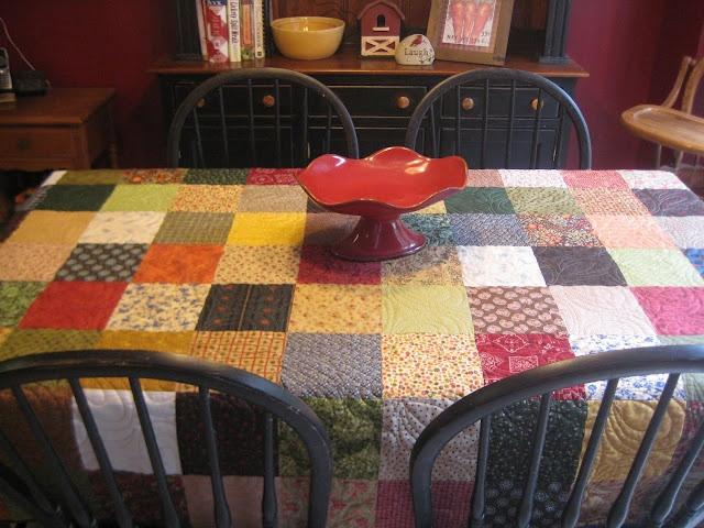 Tablecloth Quilt.