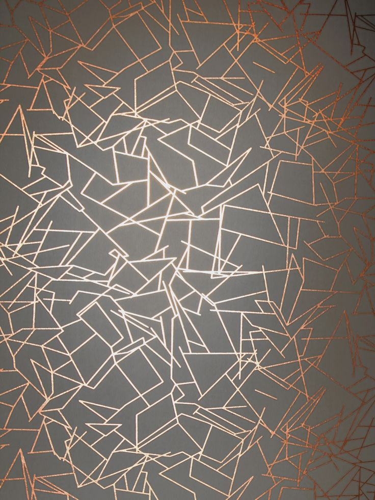 Angles Wallpaper – Copper Rose Lead Grey #metallicwallpaper #copperwallpaper