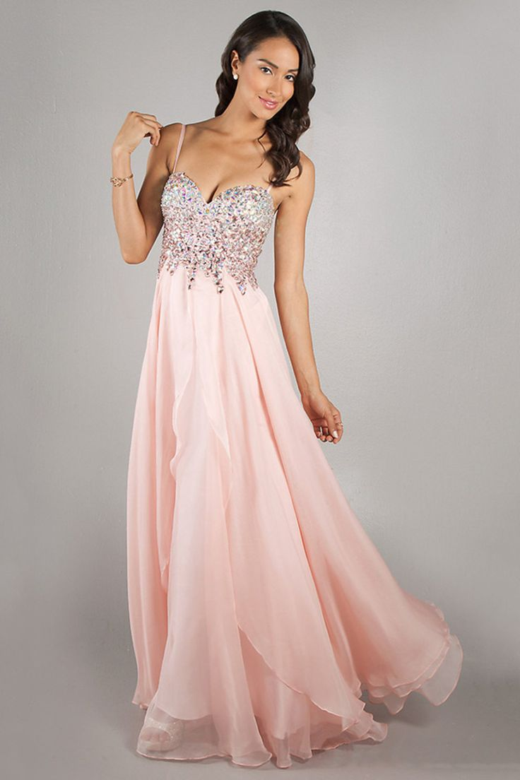2014 Sweetheart Full Beaded Bodice With Detachable Spaghetti Straps Chiffon USD 139.99 VPK63FJYL - VoguePromDresses