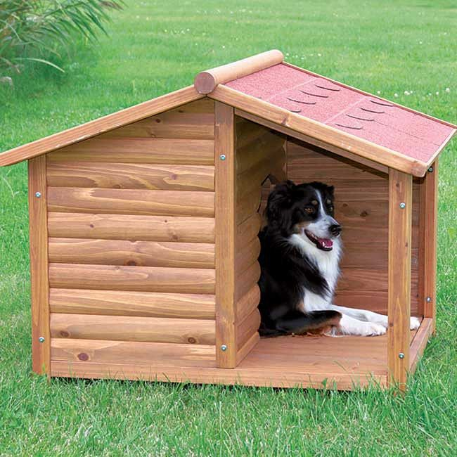 Give your pet a place to escape the elements with Trixie's Rustic Dog House with a charming covered porch.  Solid pine construction and use of the finest materials mean this shelter will endure years of use with very little maintenance.