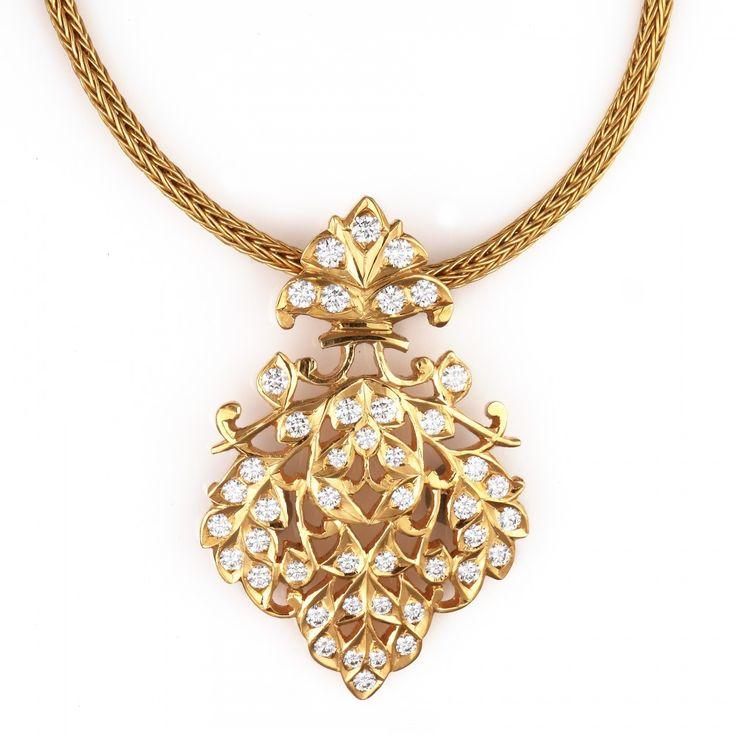 Exemplary South Indian Diamond Pendant