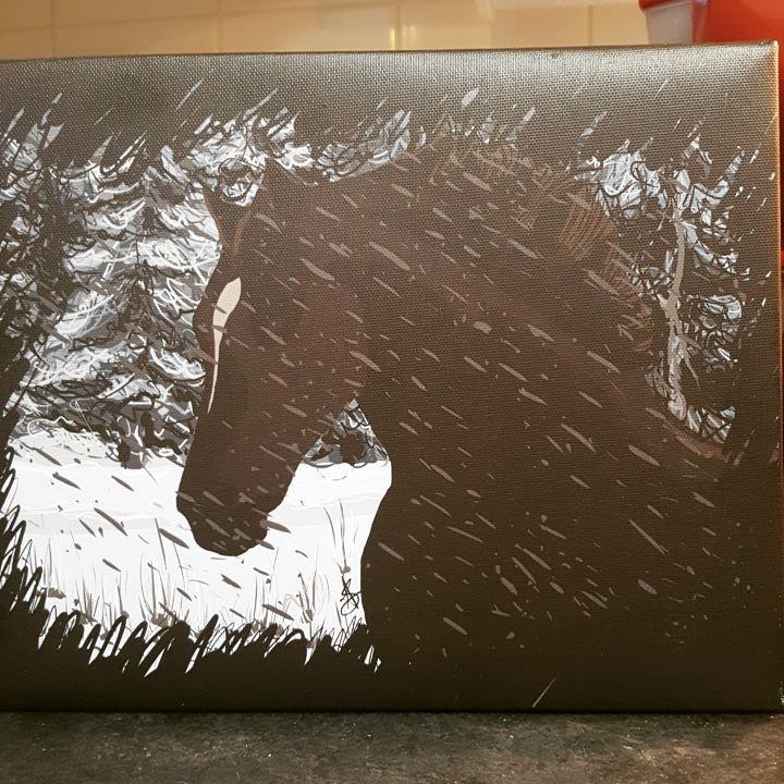"Aslinn Smith 🎨 on Instagram: ""#horse #portrait #digitaldrawing #art #love this #illustration #instagood #abstract #canadianartist #femaleartist #drawings"""