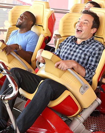 Jimmy Fallon Makes Scared Kevin Hart Ride a Roller Coaster: LOVE me some Jimmy Fallon!!!!