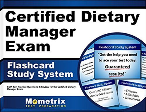 Read PDF Certified Dietary Manager Exam Flashcard Study System - certified dietary manager sample resume