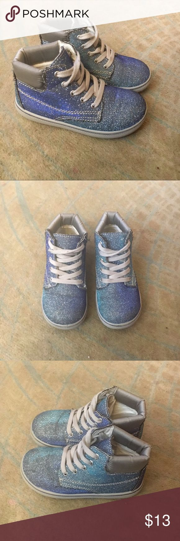 Sparkly Metallic Shimmer Sneaker Boot Blue Sparkly metallic, shimmer sneaker boot. In excellent. EXCELLENT condition with lots of life left! Awesomely cool for any day! 😎 Primigi Shoes Sneakers