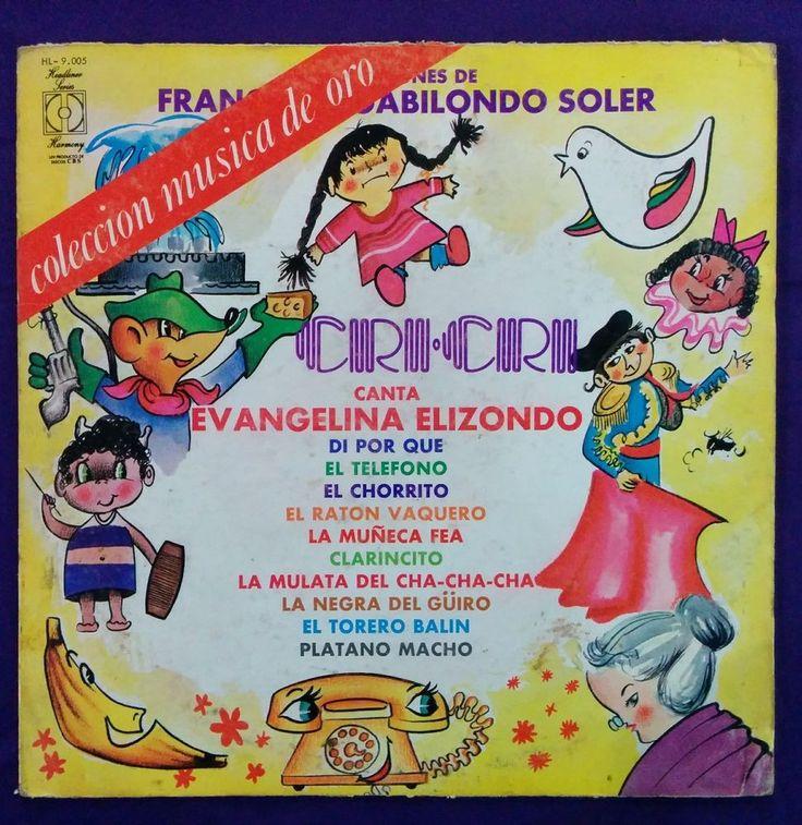 EVANGELINA ELIZONDO - CANCIONES DE CRI CRI - PROMO, RARE VENEZUELAN EDITION #SoundtrackStory