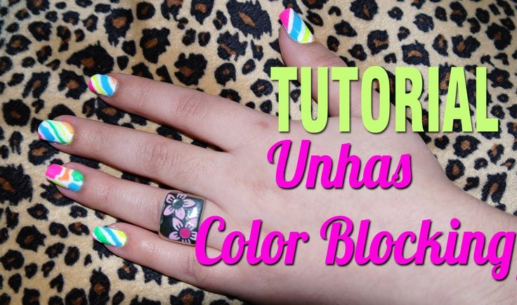 Unhas Color Blocking/Block Verão 2012 Tutorial