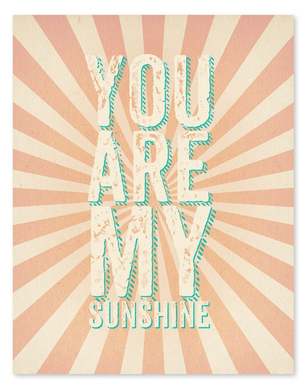 You Are My Sunshine Art Print // 8x10