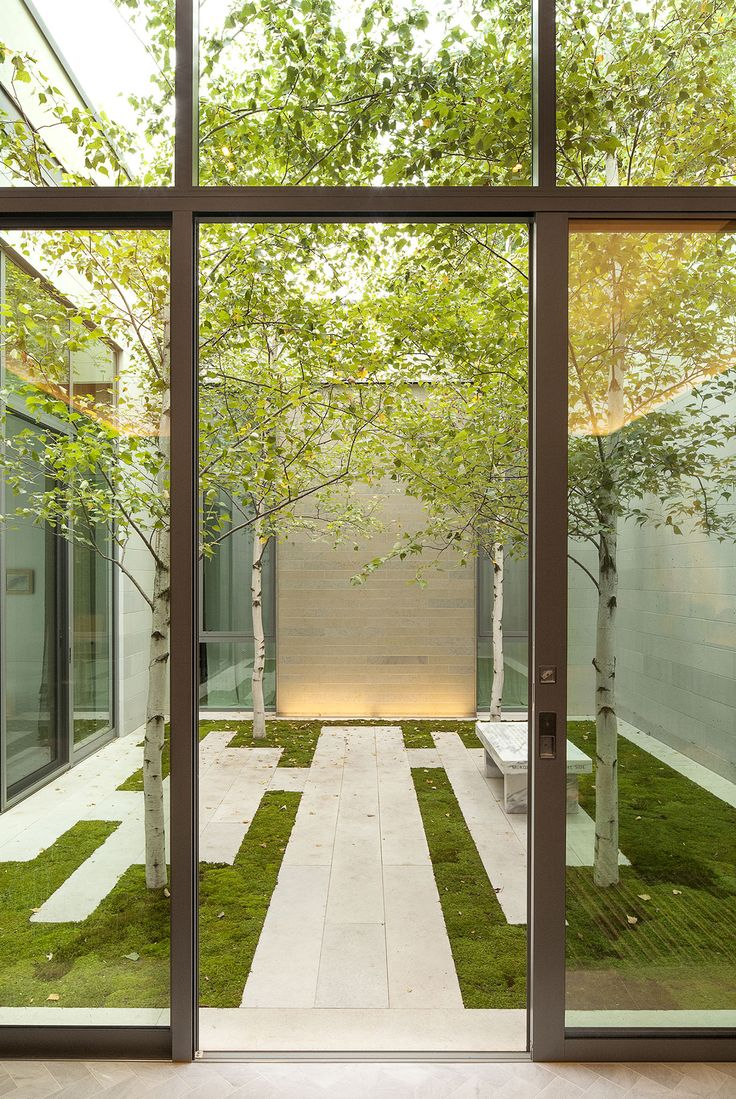 Minimalist beauty- courtyard (coen + Partners Landscape Architects / Lake Minnetonka residence, Wayzata). もっと見る