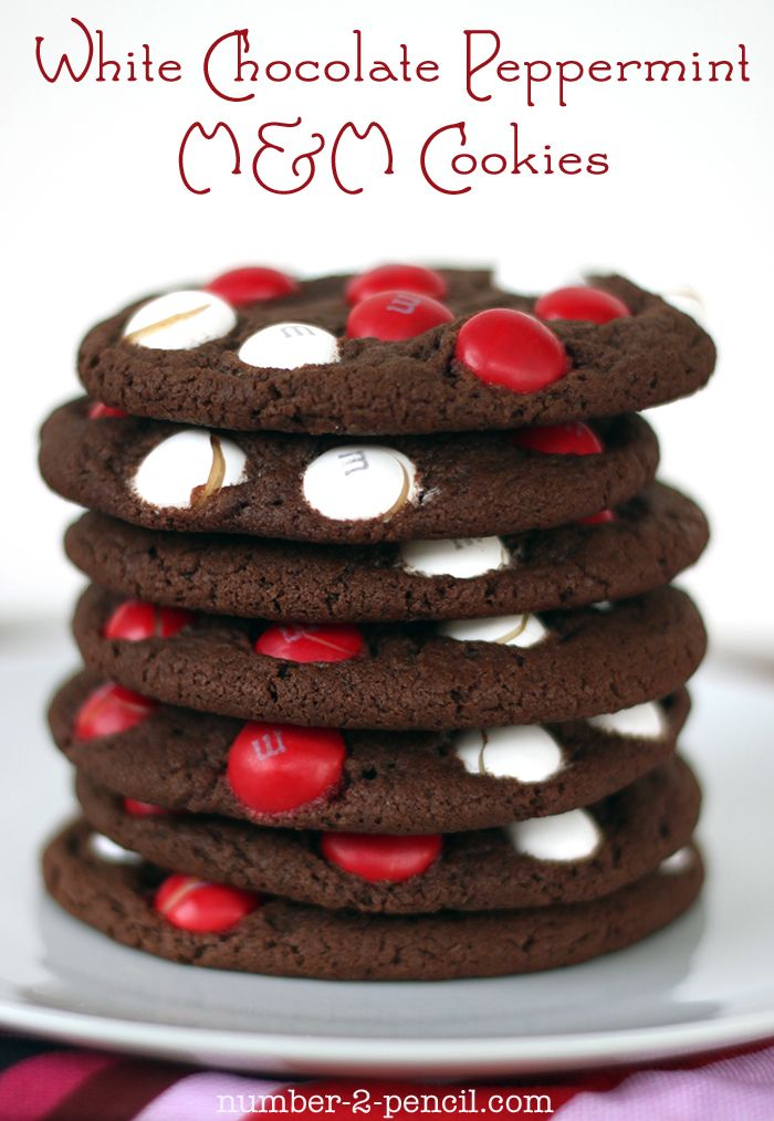White Chocolate Peppermint M Cookies...yummy!