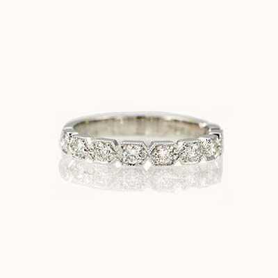Jazz age inspired wedding bands