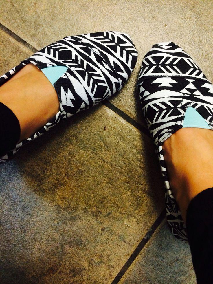 Aztec shoes with aqua blue