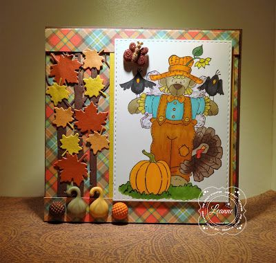 ONECRAZYSTAMPER.COM: Angel Bear Scarecrow by Leanne using High Hopes Stamps