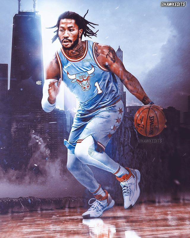 Jh On Instagram Drose In The New Chicago City Edition Jerseys Drose Der In 2020 Derrick Rose Wallpapers Rose Nba Derrick Rose