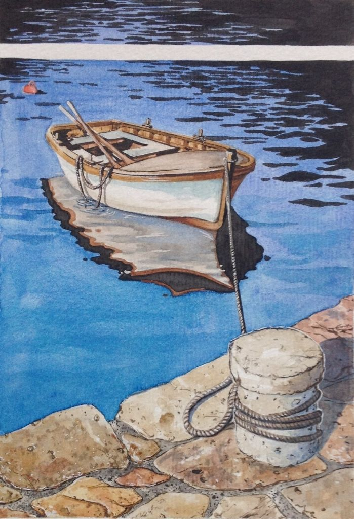 Tieded Up by artist Denise Dean. Denise loves creating a painting and watching it grow and come to life! Denise is exhibiting in November at Kathleen Berneys Studio, 31 Bloodwood Road, Arcadia.#painter #art  #artist #painting