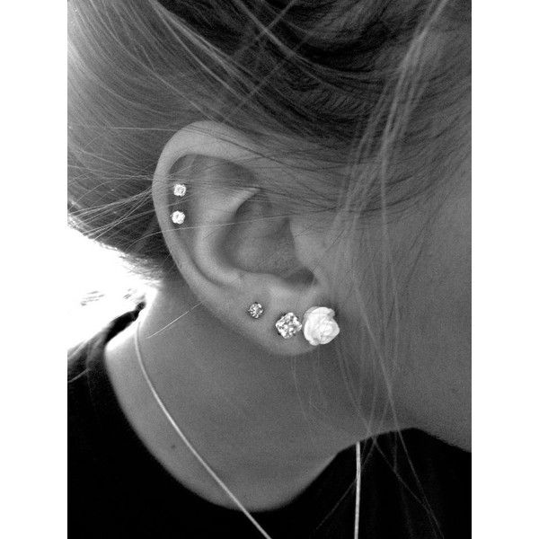 30 Cute and Different Ear Piercings Sortrature ❤ liked on Polyvore