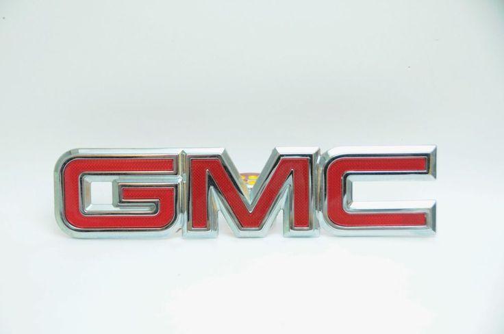 GMC TAIL GATE EMBLEM CANYON ENVOY JIMMY SAVANA SIERRA SONOMA YUKON #2288-4137 #GMC