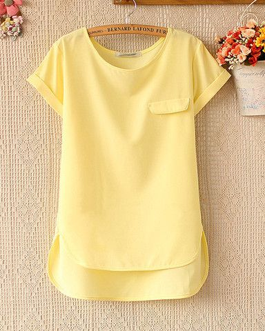 Spring and summer women's loose short-sleeved chiffon shirt – Tepayi