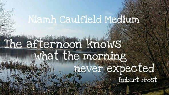 #robertfrost #lookingforward #niamhcaulfieldmedium