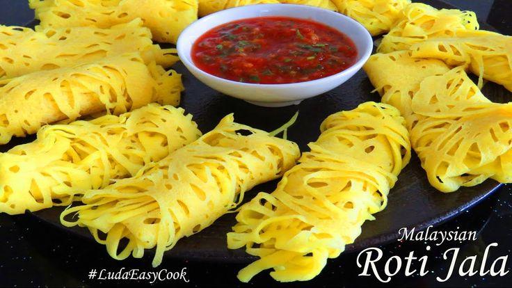 ☀БЛИНЫ РОТИ ДЖАЛА☀ Малазийские кружевные блины с соусом Net Pancakes ROT...