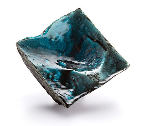 Corrado de Meo Brooch: Reflections, 2014 Polystyrene, resin, silver 8x7 cm