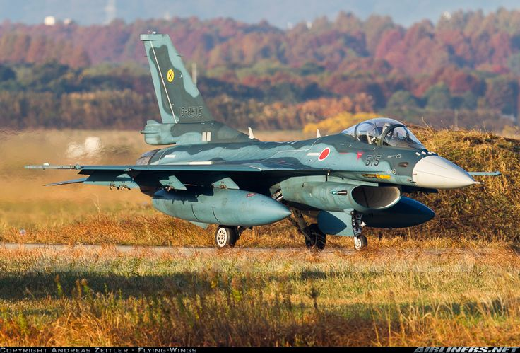 Mitsubishi F-2A 13-8515 / 515 (cn 1015) great camouflage on the F-2, and the trees in the background even still show their beautiful autumn colors!