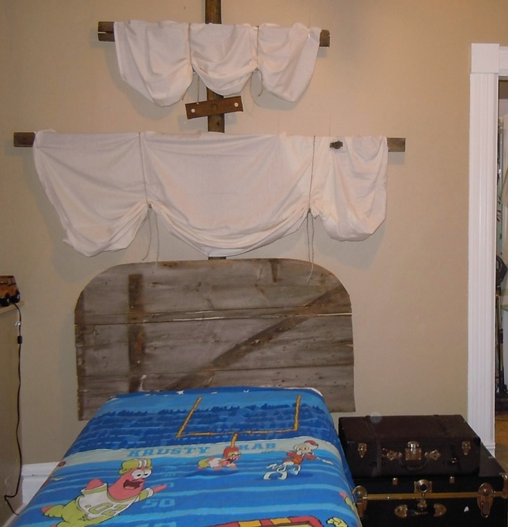 My son's pirate bed.