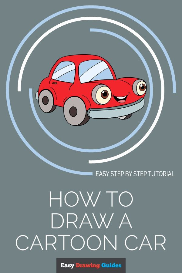 How To Draw A Cartoon Car G Art Drawings Drawing Tutorials For
