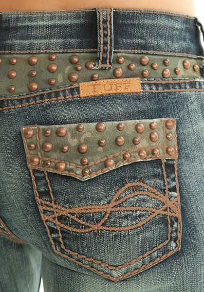 Cowgirl Tuff Jeans - Studded Camo at Billy's Western Wear in Boerne and Kerrville, Texas