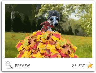 Warm Autumn Wishes dog ecard