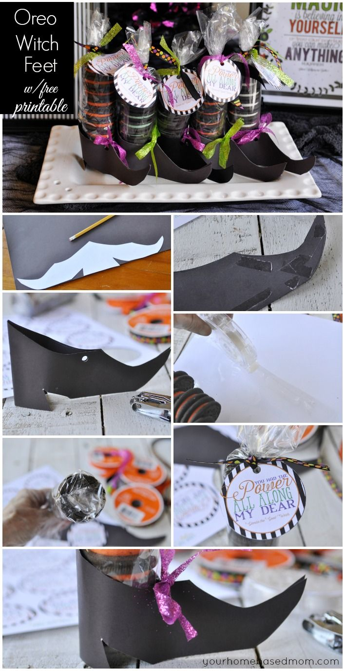 Make Your Own Oreo Witch Feet + Free Printable Gift Tags