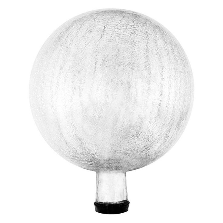 Achla Designs Crackled Glass Gazing Globe Silver - G12-S-C