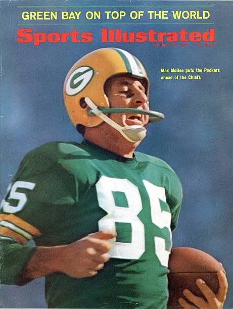 On cover of SI on this day in 1967: Packers backup WR Max McGee who was so sure he wouldnt play in Super Bowl I he stayed out all night & came to the stadium with a hangover. Was put in & scored 2 TDs. Post career: Co-founded Mexican chain Chi-Chis made millions.   https://twitter.com/darrenrovell/status/955796113885483008  Submitted January 23 2018 at 08:38AM by TheFencingCoach via reddit http://ift.tt/2DEc3ii