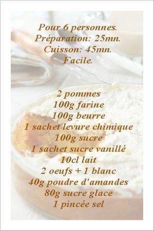Macaroné aux pommes. Gâteau moelleux aux pommes recouvert de pâte à macarons, légère et craquante.
