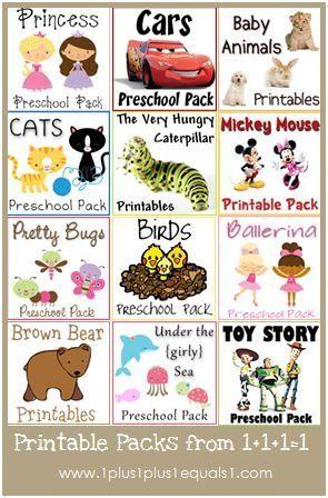 Preschool Tot And Kindergarten Printable Packs Free