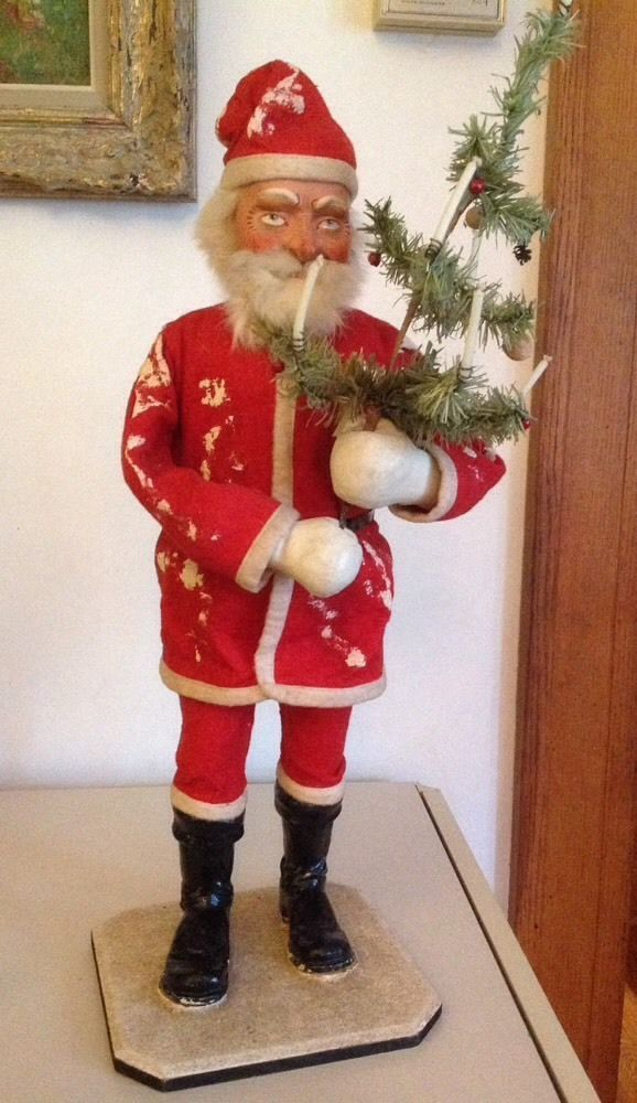 """Antique German Belsnickle Santa Candy Container Store Display X Large 24"""""""