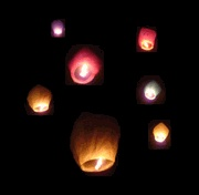Floating Lanterns...my neighbors launched these at a party recently...so cool.