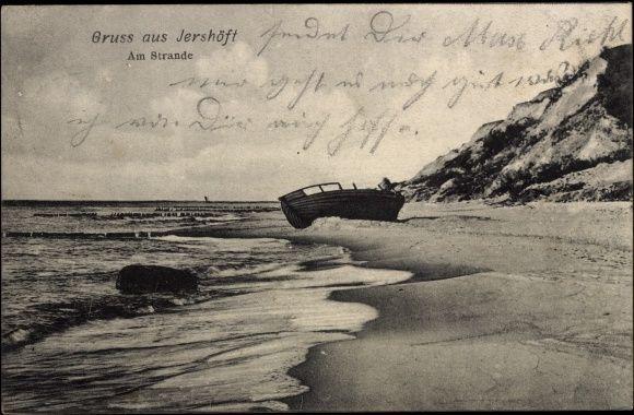 Jarosławiec - pocztówka według stempla pocztowego wysłana  10 lub 18  lipca 1906 roku. Wydawnictwo: Verlag von A. Rogorsch, Photogr., Danzing