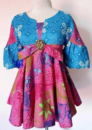 Colorful batik top