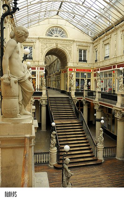 Passage Pommeraye, Nantes, France. I used to walk through here almost every day on the way to class