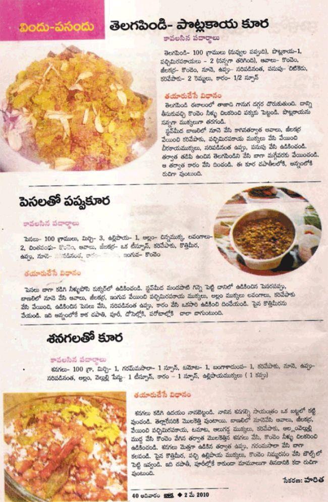 Telugu vantalu telugu recipes vantakalu pachhi batanila tho telugu vantalu telugu recipes vantakalu pachhi batanila tho variety indian cuisine pinterest telugu green peas and rice forumfinder Gallery