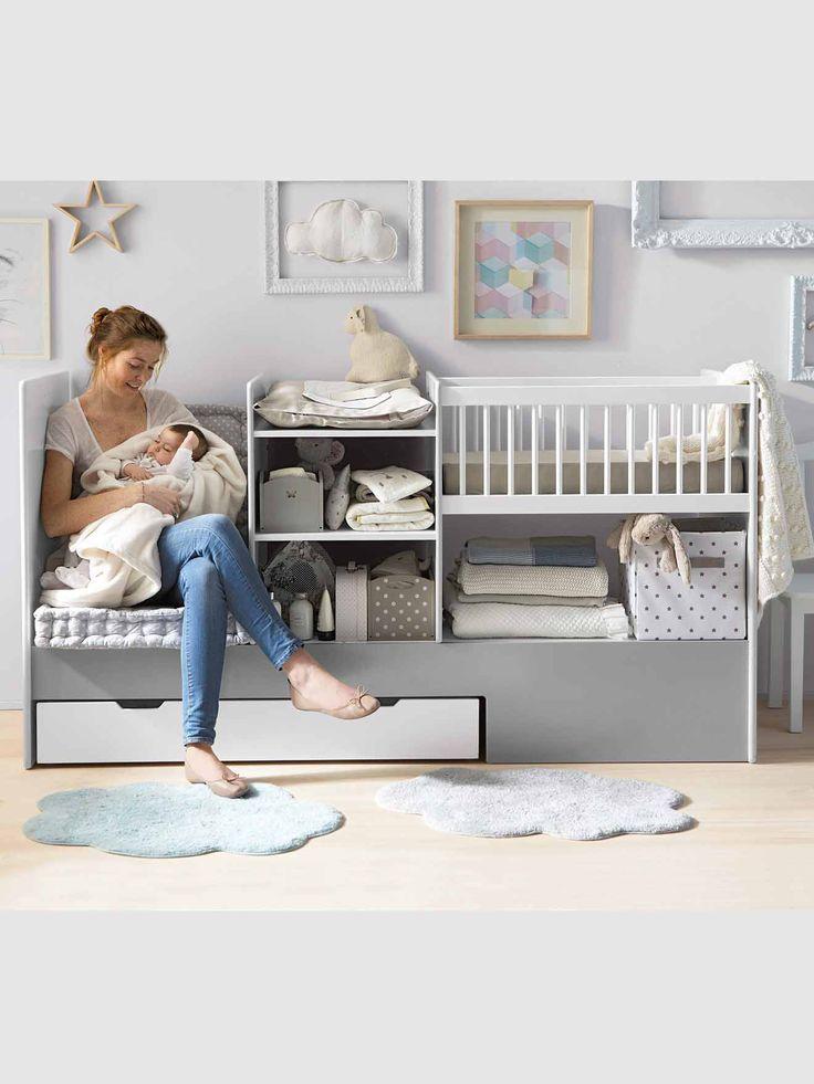 Lit bébé 4 en 1 Evolunid, Chambre et linge de lit                                                                                                                                                     Plus