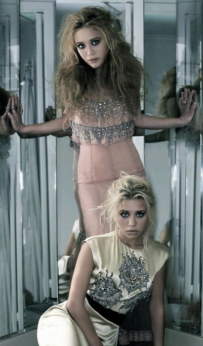 The Olsen Twins  I like the antique gothic style.  I like messy, back comb hair x