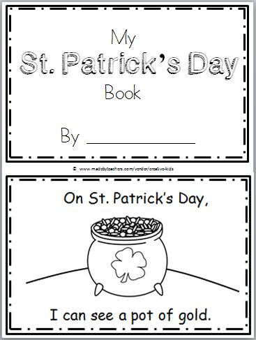 """Free St. Patrick's Day Mini Book for Kindergarten or preschool. Practice reading the high frequency word """"can see"""" in this book. There are 9 pages in this mini book. You can print and use all the pages or just the ones that you prefer to use. The final page is blank to allow students to …"""