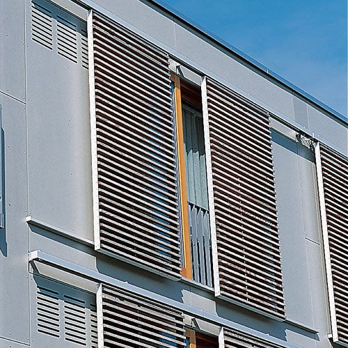 Sliding shutter / in wood - NURSING HOME, HETTSTEDT - Schindler