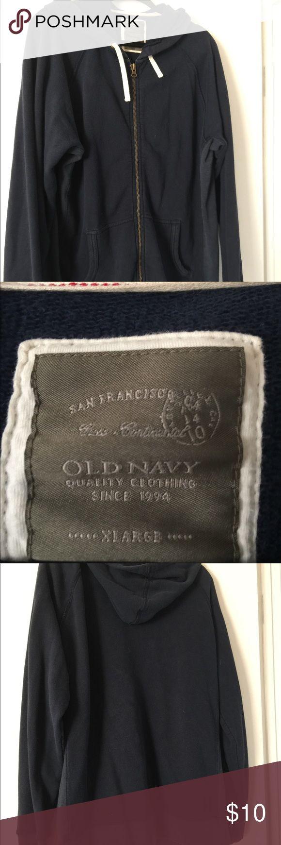Men's zip up hoodie Men's Old Navy zip up hoodie, dark blue. Great condition Old Navy Shirts Sweatshirts & Hoodies