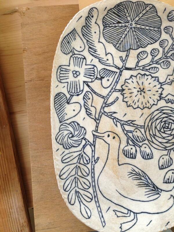Makoto Kagoshima - beautiful blue and white china - duck and flowers