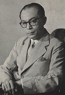 Dr. Drs. H. Mohammad Hatta (lahir dengan nama Muhammad Athar, populer sebagai Bung Hatta; lahir di Fort de Kock (sekarang Kota Bukittinggi, Sumatera Barat), Hindia Belanda, 12 Agustus 1902 – meninggal di Jakarta, 14 Maret 1980 pada umur 77 tahun) adalah pejuang, negarawan, ekonom, dan juga Wakil Presiden Indonesia yang pertama. Ia bersama Soekarno memainkan peranan penting untuk memerdekakan bangsa Indonesia dari penjajahan Belanda sekaligus memproklamirkannya pada 17 Agustus 1945.